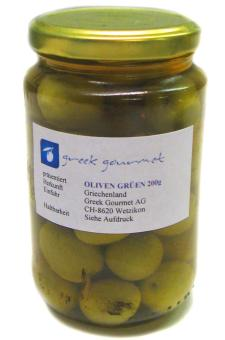 Oliven Extra Jumbo grün 200 im Glas