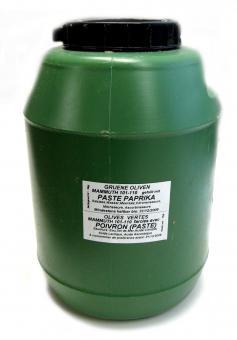Oliven grün gefüllt mit Peperoni 10kg
