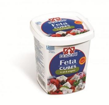 Dodoni Feta Cubes mit Öl und Oregano 350g